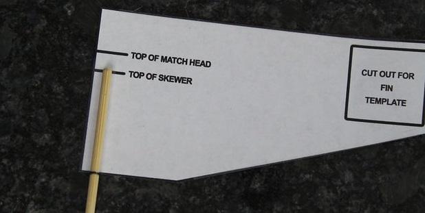 Положите на требуемое место на детали из фольги - определите место по шаблону - подготовленный шампур
