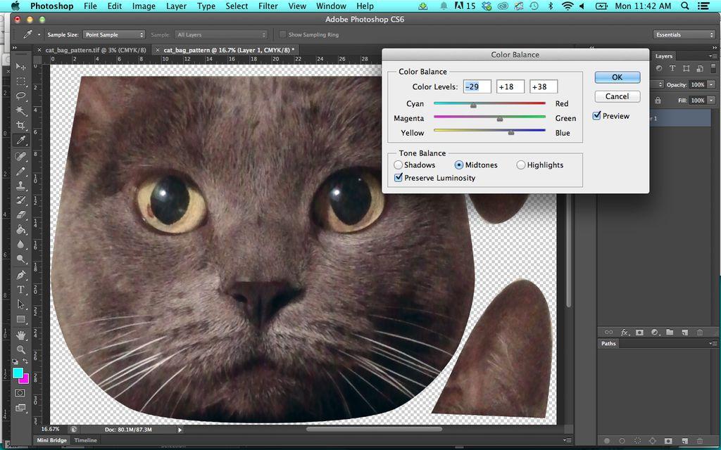 Подготавливаем изображение для печати на ткань в Photoshop: РГБ цветность