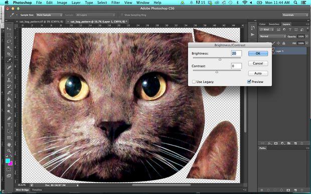 Подготавливаем изображение в Photoshop: увеличить яркость и контраст