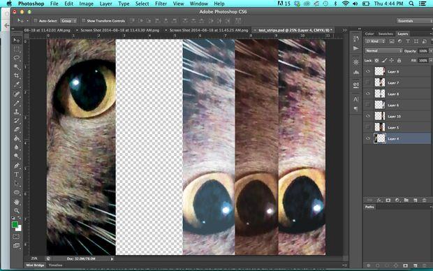 Подготавливаем изображение в Photoshop: делаем тестовый файл с деталями различной яркости