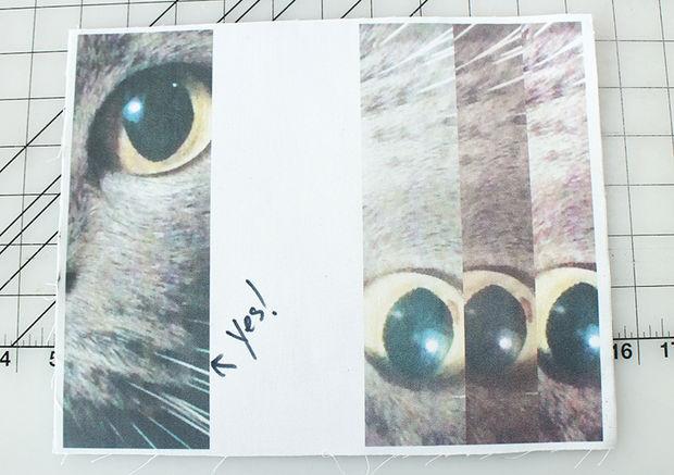 тестовая распечатка вариантов глаза