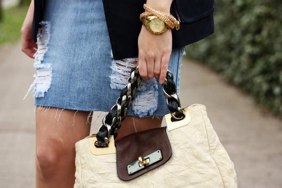 модная джинсовая юбка - новый вид рванки