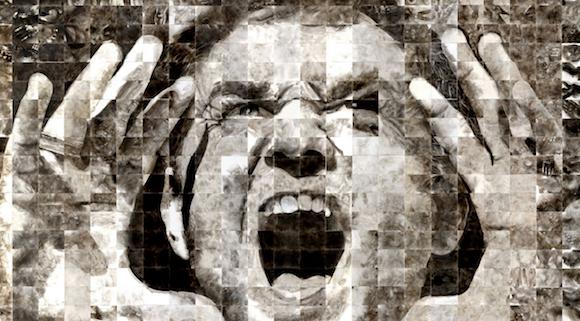Как художники рисуют огнем - Стивен Спазук (Steven Spazuk): кричащий мужчина