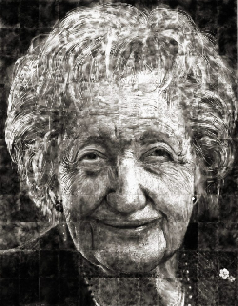 Как художники рисуют огнем - Стивен Спазук (Steven Spazuk): портрет женщины