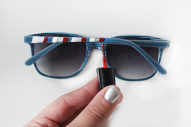 Как стильно и модно украсить солнцезащитные очки при помощи лака для ногтей