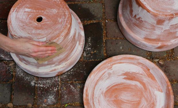 ошкурьте оставшиеся слои известняковой муки