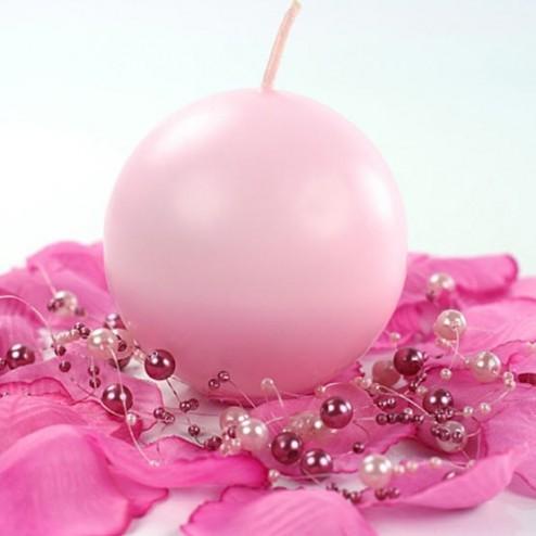 магия свечей круглая розовая свеча