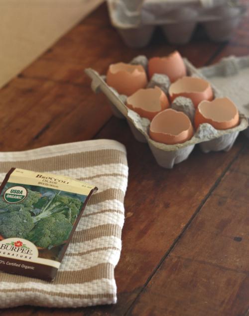 очищенная скорлупа в формовой картонной таре для яиц