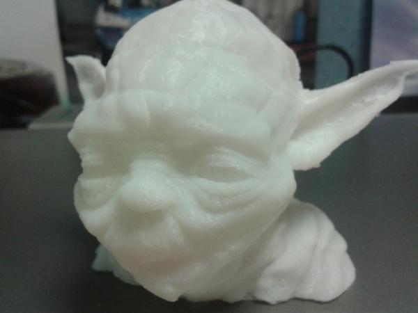 Йода, напечатанный на 3D принтере