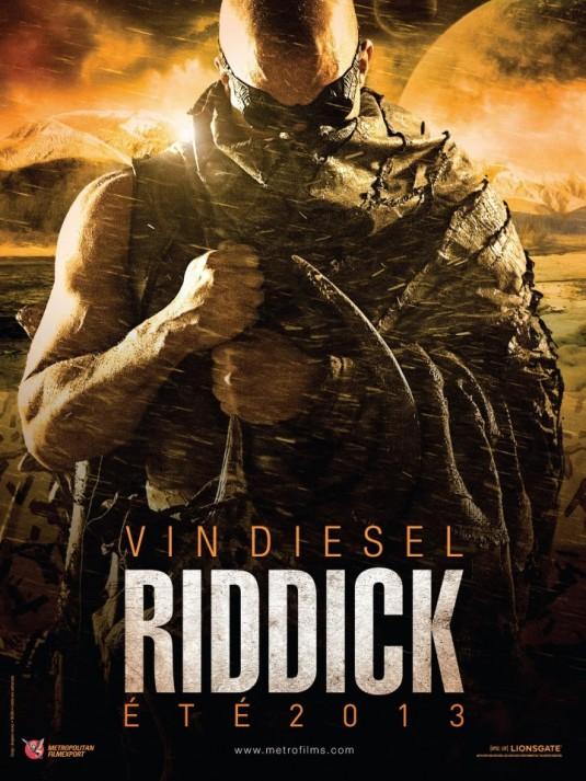 фильм «Риддик 3» (Riddick) 2013, осень, плакат