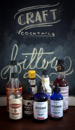 коллекция биттеров (сиропов) для создания коктейлей