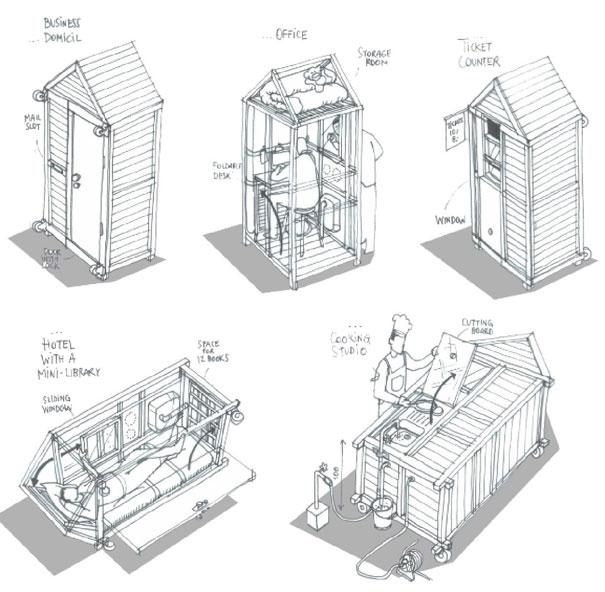 Как выглядит Топ-10+ домов мира с самой экстравагантной планировкой - Самый маленький дом в мире – 1 метр квадратный, планировка