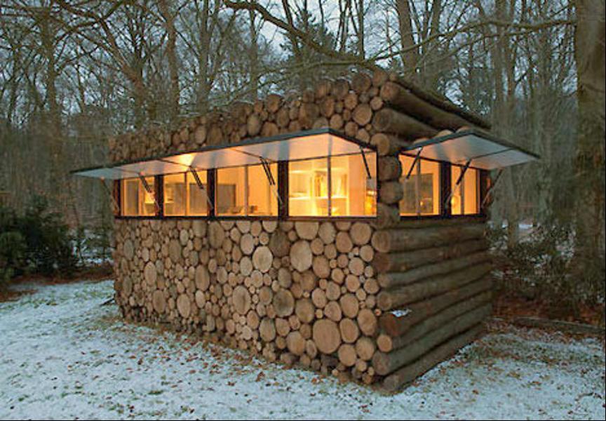 Как выглядит Топ-10+ домов мира с самой экстравагантной планировкой - Дом в виде горы поленьев