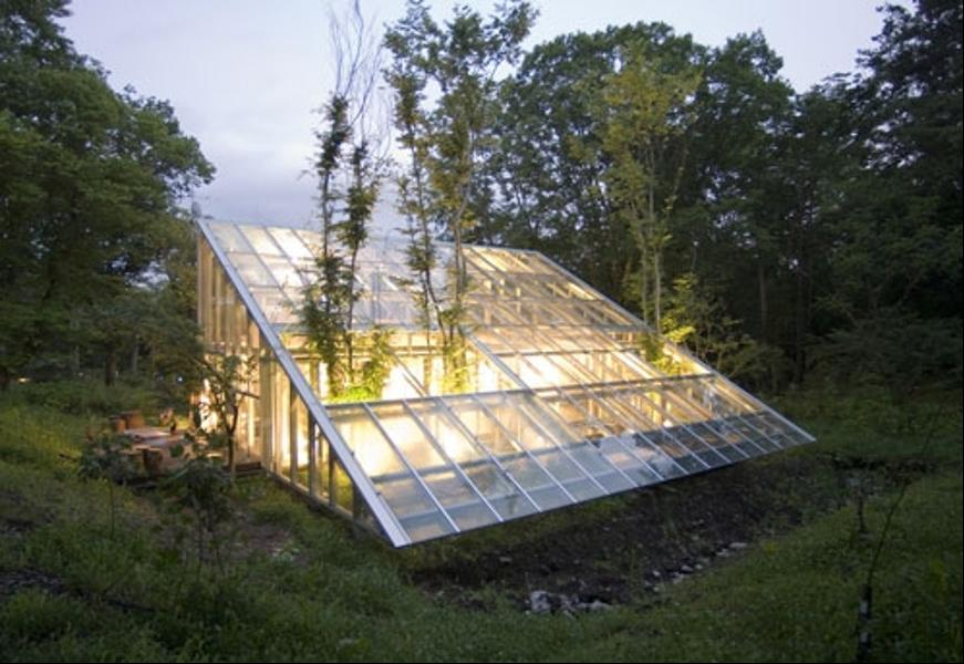 Как выглядит Топ-10+ домов мира с самой экстравагантной планировкой - Прозрачный зеленый дом-теплица/оранжерея