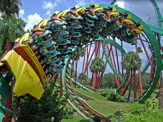 Тематические развлекательные парки - огромная труба американские горки