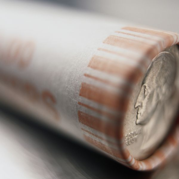 упакованная стопка монет