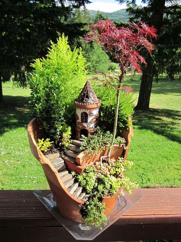 сад фей со ступенями для дачного участка