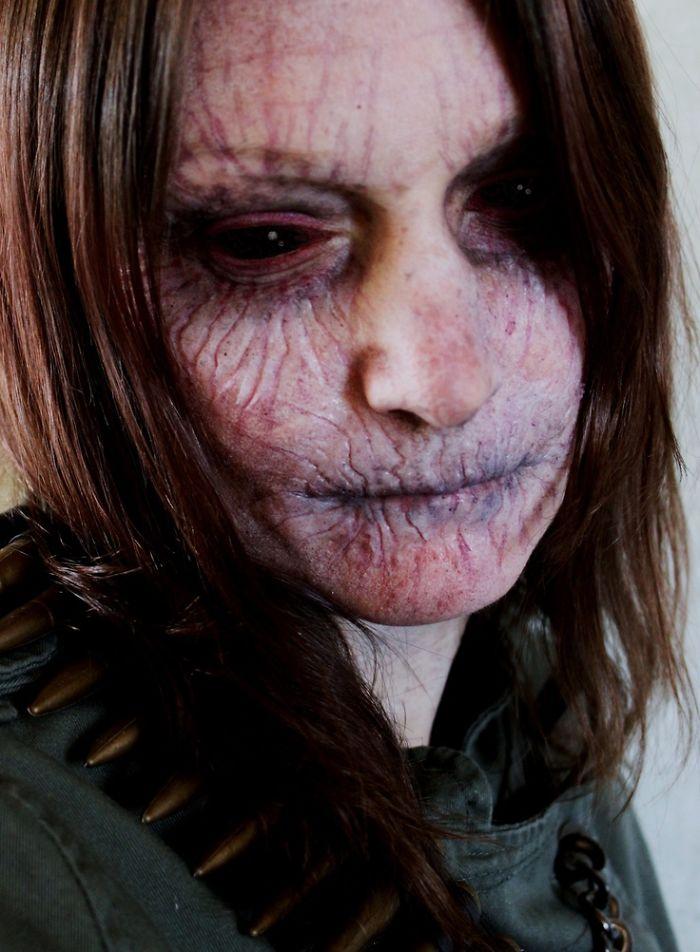 самый жуткий грим на Хэллоуин: иссушенный вампир