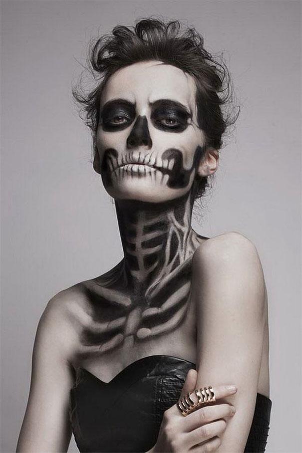 самый жуткий грим на Хэллоуин: живой рентген