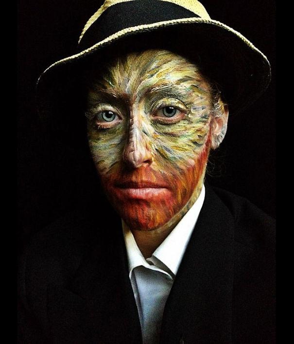 самый жуткий грим на Хэллоуин: живой герой с картины Ван Гога