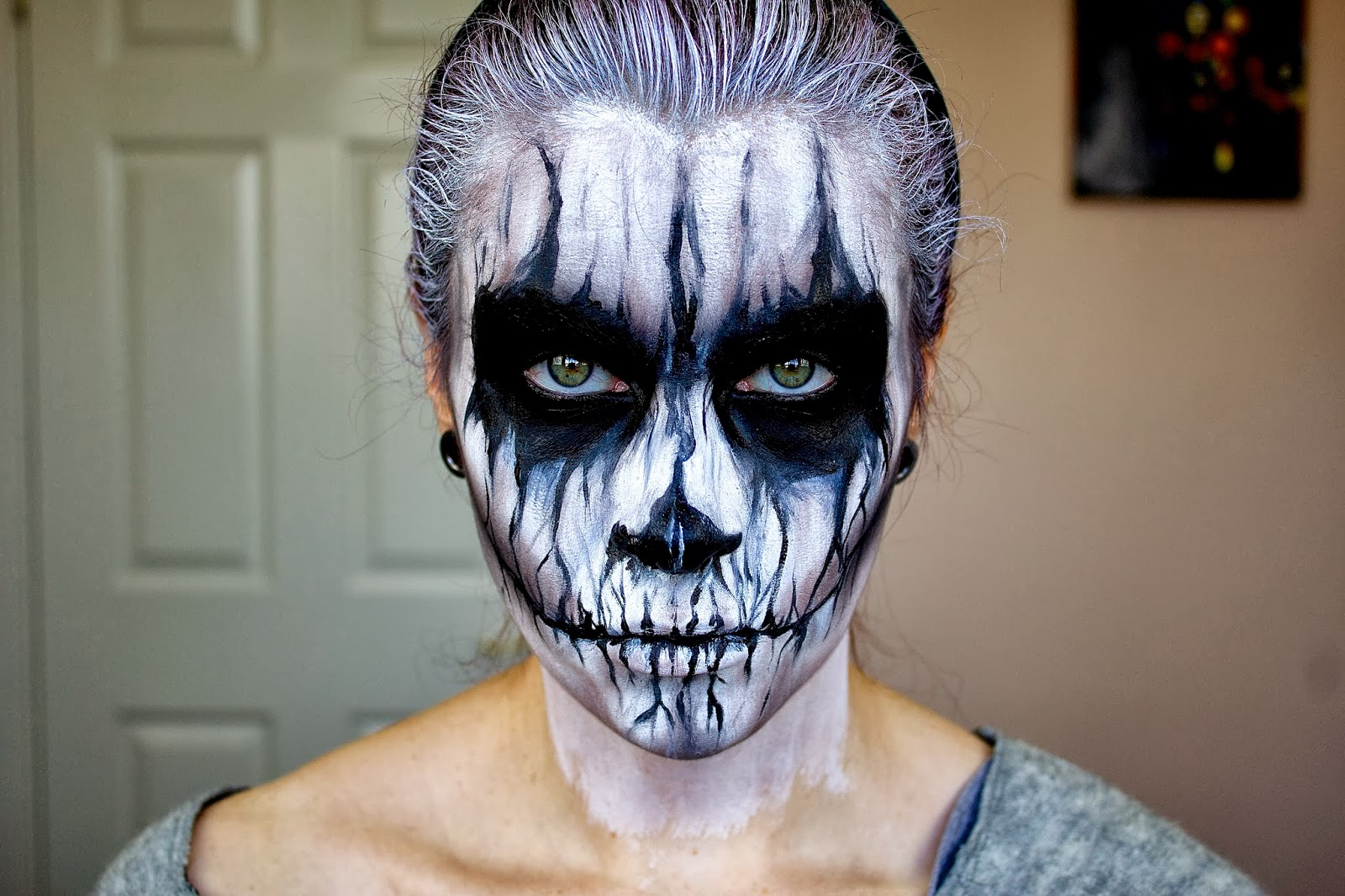 Грим на лицо на хэллоуин картинки