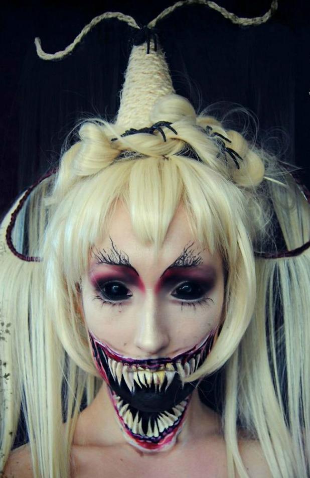 самый жуткий грим на Хэллоуин: японская демоница-призрак