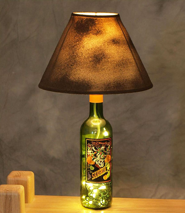 Лампа из бутылки и одновременно светильник-ночник