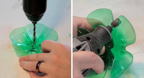 Ярусный держатель из пластиковых бутылок для украшений: пошаговая инструкция в картинках