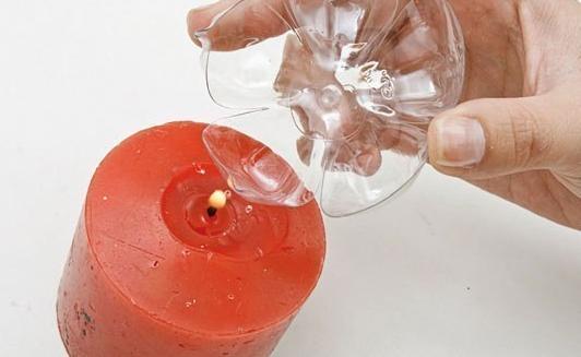 Декоративные цветы из пластиковых бутылок – для украшения бутылок вина, бокалов, колец для салфеток