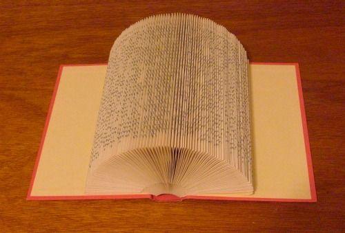 Как складывать страницы книг в предметы и буквы: новый вид искусства. Горизонтальное складывание, веер.