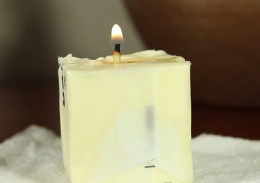 Как в случае необходимости сделать свечу из масла и туалетной бумаги