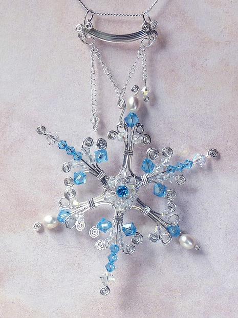 «капельки» из кристаллов за полу-петли подвесьте на кончики маленькой цепочки
