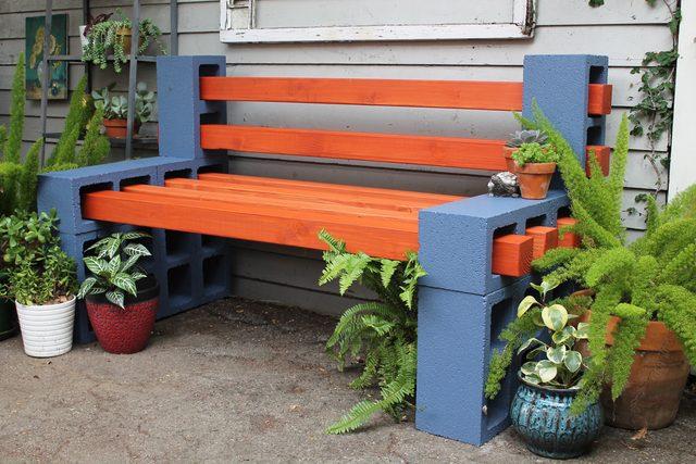 Как сделать очень простую и одновременно необычную скамейку