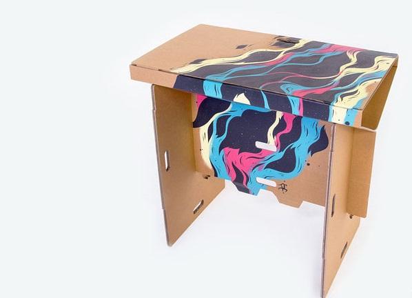 Как выглядят самые необычные и креативные столы в мире - складной стол из прочного картона, с принтом