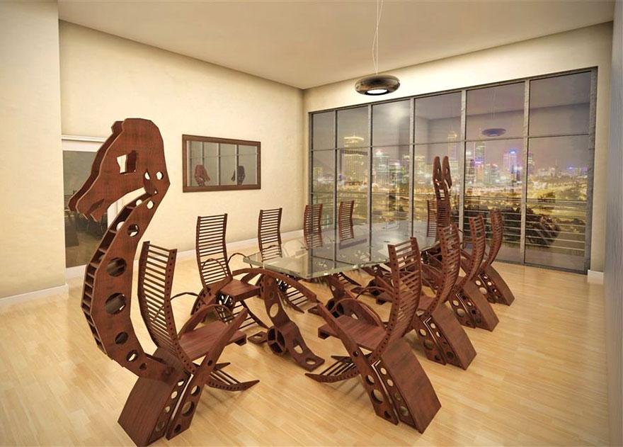 Как выглядят самые необычные и креативные столы в мире - драккар или ладья викингов