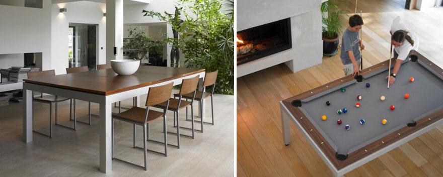 Как выглядят самые необычные и креативные столы в мире - стол-бильярд со съемными панелями