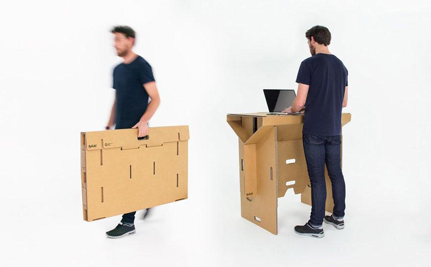 Как выглядят самые необычные и креативные столы в мире - складной стол из прочного картона