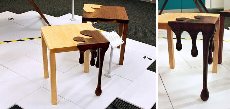 """Как выглядят самые необычные и креативные столы в мире - столики с """"капающим шоколадом"""""""