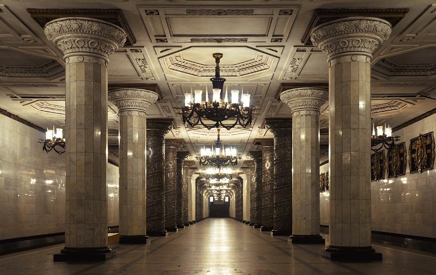 Как выглядят 30+ самых красивых станций метро в мире - Автово, Санкт-Петербург, Россия