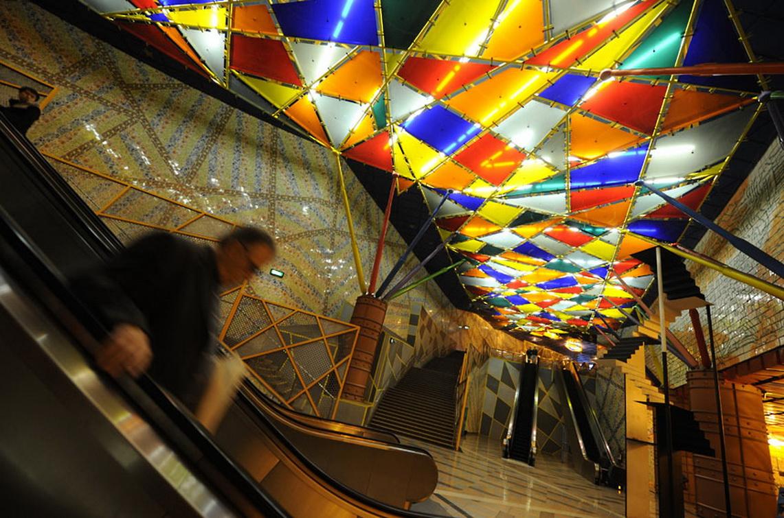 Абстрактная Метростанция «Олайас» - Лиссабон, Португалия