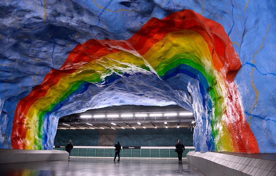 Метростанция «Стадион» - Стокгольм, Швеция