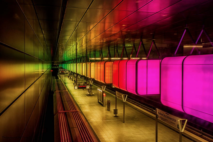 Метростанция «ХафенСити» (Hafencity) – Гамбург, Германия