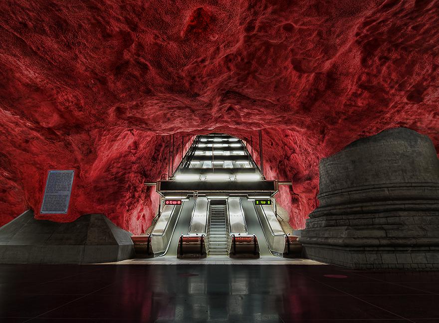 Метростанция «Ратуша» (Rådhuset) – Стокгольм, Швеция