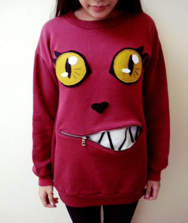 Как сшить свитер-костюм в виде морды кота с сюрпризом