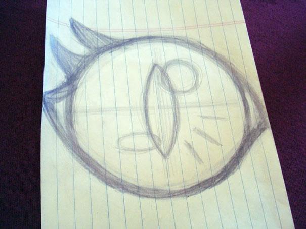 Нарисуйте глаза на любом листе бумаги