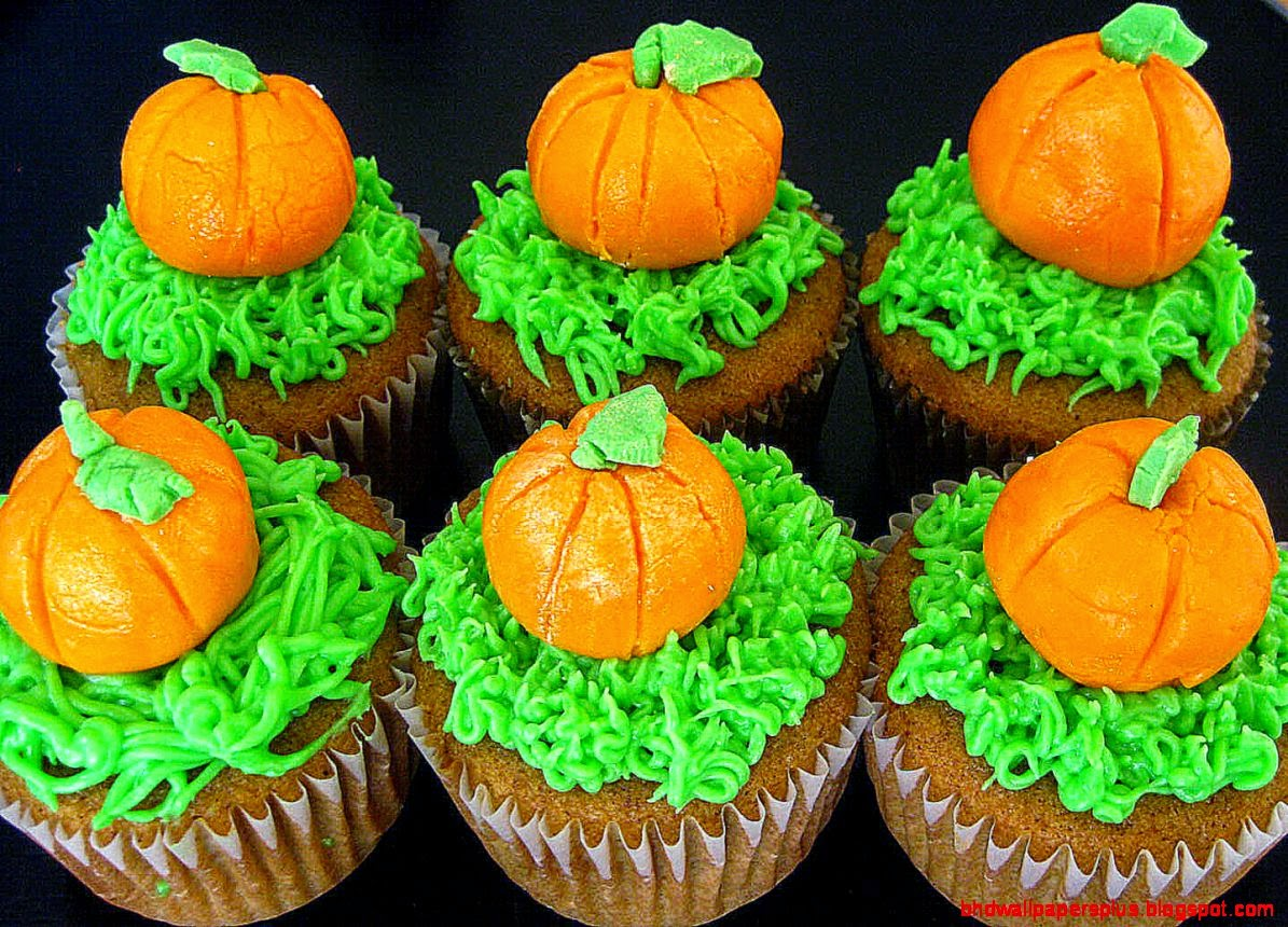 Как накрыть страшно вкусный стол на Хэллоуин: декорируем кексы/маффины/капкейки – самые разные тыквы - объемные из мастики