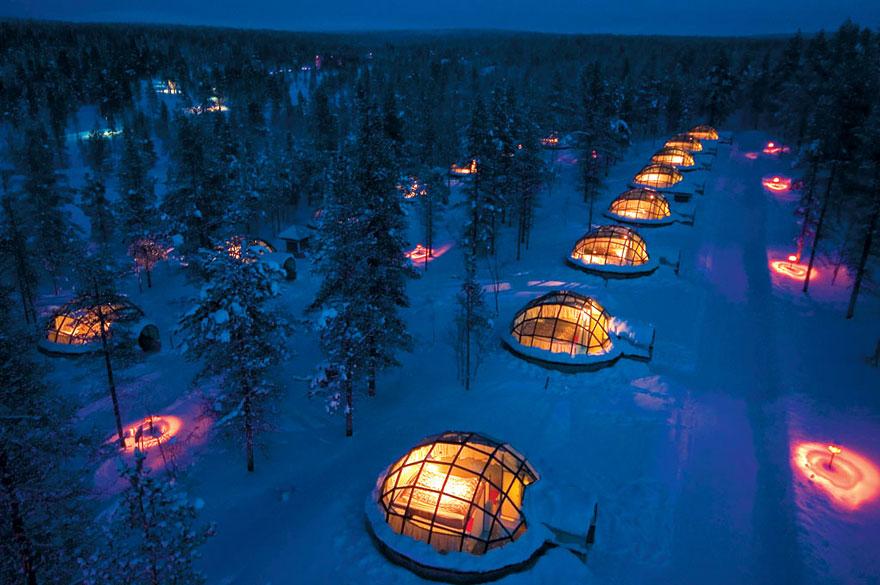 Отель Какслауттанен (Kakslauttanen), Финляндия - Деревня иглу зимой