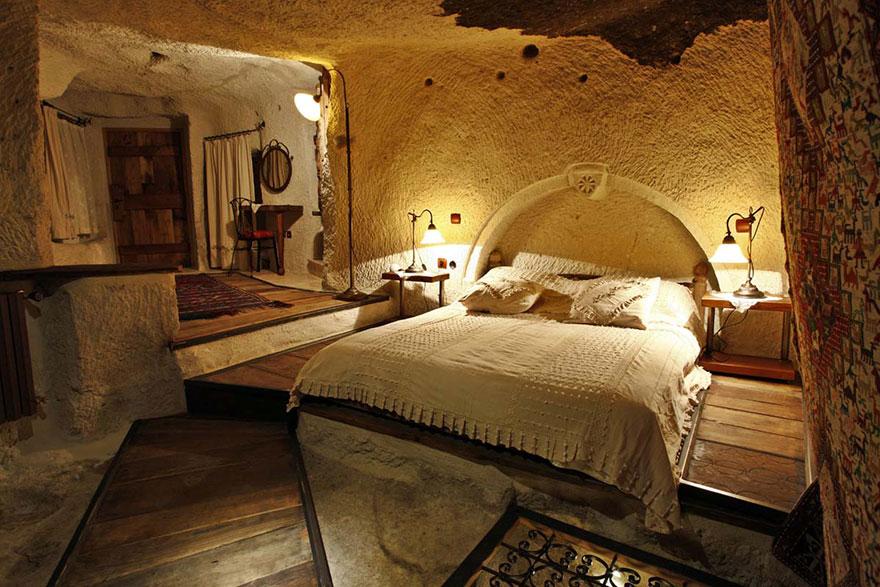 Отель «Труба фей» (Fairy Chimney), Турция - внутренний декор комнат