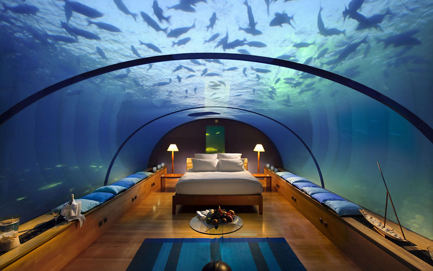 Гостиница «Conrad Maldives Rangali Island», Атолл Арии, Мальдивы - подводный номер