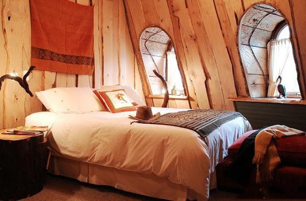 """Отель """"Волшебный вулкан"""" «Montana Magica Lodge», Чили - номер изнутри, дизайн"""